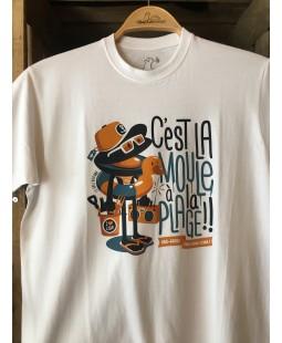 """T-shirt homme """"C'est la moule à la plage"""" Le Gallodrome"""