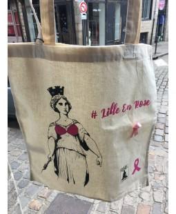Tote Bag Lille en Rose