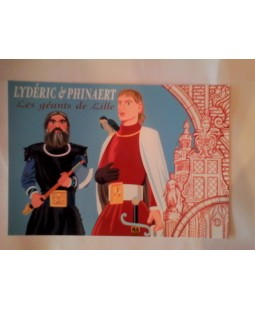 Carte Postale Lydéric et Phinaert, les géants de Lille