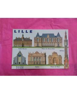 Carte postale des monuments de Lille