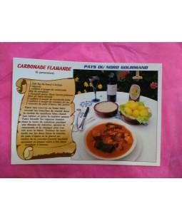 Carte Postale recette de la Carbonade Flamande